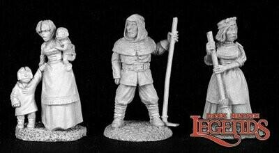 Townsfolk V (3) - Dark Heaven Legends - Reaper Miniatures