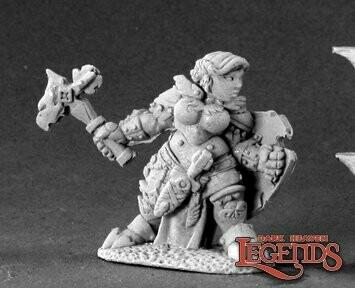 Nalila Goldhammer, Female Dwarf Paladin - Dark Heaven Legends - Reaper Miniatures