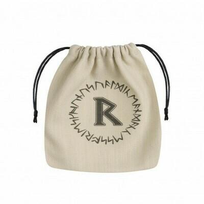 Runic Beige & black Dice Bag - Würfeltasche