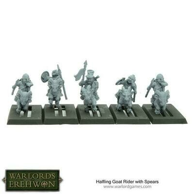 Halfling Goat Rider with Spears - Warlord Games