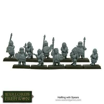 Halfling with Spears - Warlord Games