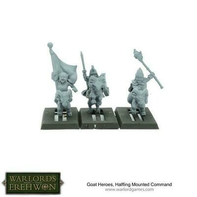 Goat Heroes, Halfling Mounted Command - Warlord Games