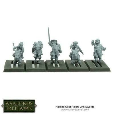 Halfling Goat Riders with Swords - Warlord Games