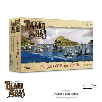 Frigates & Brigs Flotilla (1770 - 1830) - Black Seas - Warlord Games