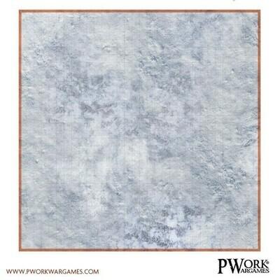 RPG Battlegrid Combat Mat Snow Plain - Rollenspielmatte Mat PVC Vinyl - 30x30