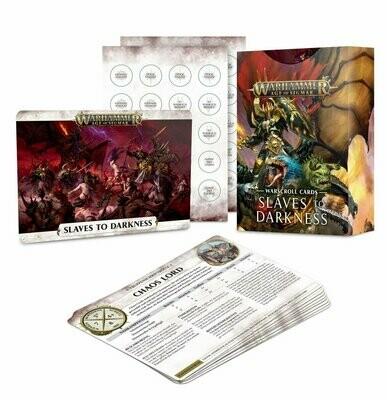 Schriftrollenkarten der Slaves to Darkness Warscroll Cards - Warhammer Age of Sigmar- Games Workshop
