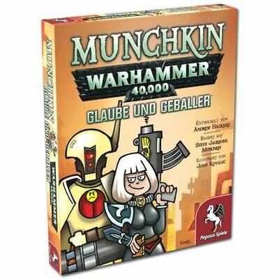 Munchkin Warhammer 40 000 40k Glaube und Geballer (Erweiterung) (DE) - Pegasus Spiele