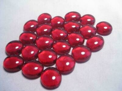 Crystal Red Glass Gaming Stones (40+) - Chessex