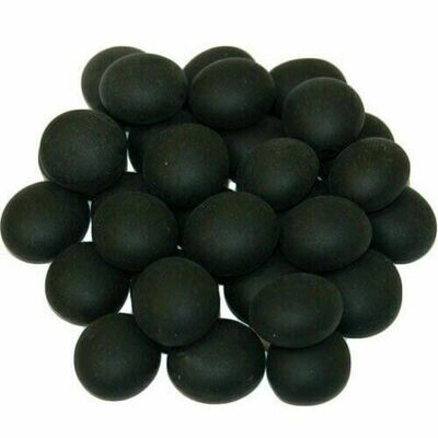 Black Opal Frosted Glass Gaming Stones (40+) - Chessex