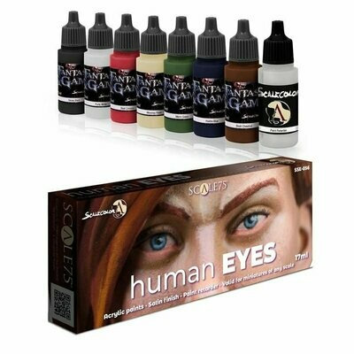 Human Eyes - Scalecolor Paint Set - Blau Farbset - Scale75