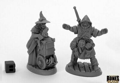 Dreadmere Townsfolk: Fishmongers (2) - Bones - Reaper Miniatures