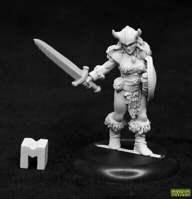 Dungeon Dwellers: Jana Frostwind, Barbarian - Dark Heaven Legends - Reaper Miniatures
