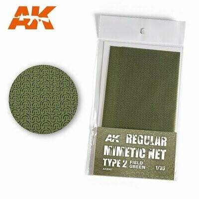 Regular-Camouflage-Net-Type-2-Field-Green-(16×23cm) - AK Interactive
