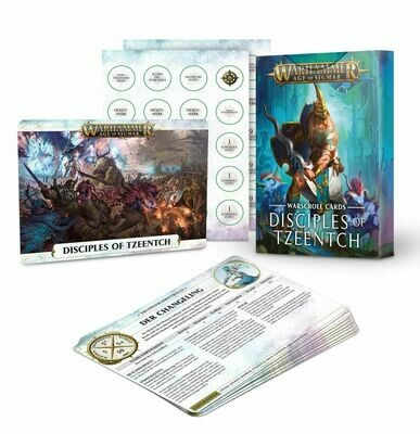 Schriftrollen-Karten: Disciples of Tzeentch Warscroll (Deutsch) - Warhammer Age of Sigmar - Games Workshop