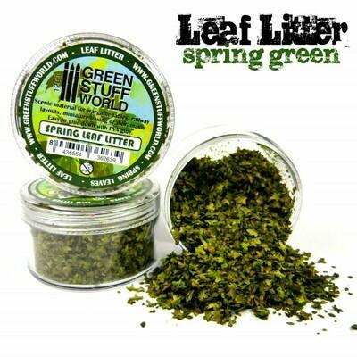 Natürliche Modell-Blätter Laubstreu Spring Leaf Litter - Frühlingsgrün - Greenstuff World