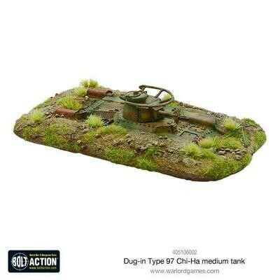 Dug-in Type 97 Chi-Ha medium tank - Bolt Action