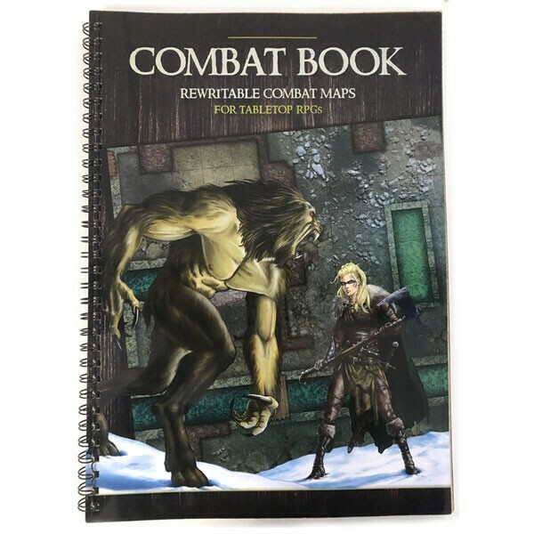 Combat Book - Rewritable Combat Maps for Tabletop RPGs- PWork Wargames