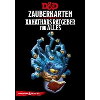 Dungeons & Dragons - Xanathar's Ratgeber für alles Zauberkarten Spellbook Cards - DE