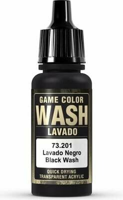 Game Color Wash Black Shade 17ml - Vallejo - Farben