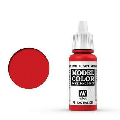 Vallejo Model Color: 028 Verkehrsrot (Vermillion), 17 ml (909) - Model Color - Vallejo - Farben