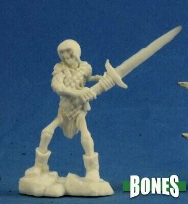 Skeleton Guardian 2H Sword (3) - Bones Black - Reaper Miniatures