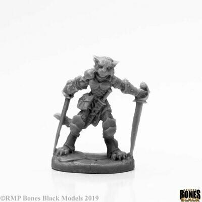 Shadoweyes, Catfolk Rogue - Bones Black - Reaper Miniatures