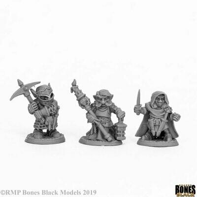 Deep Gnome Warriors (3) - Bones - Reaper Miniatures