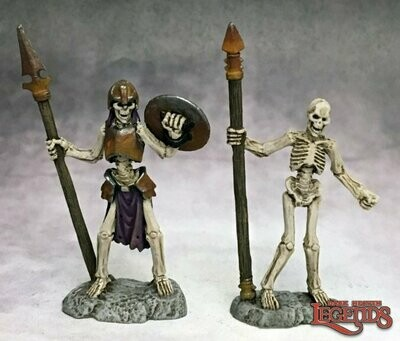 Skeleton Spearmen (2) - Reaper Miniatures