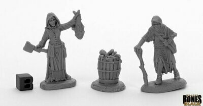 Dreadmere Townsfolk: Fishwife & Crone (2) - Reaper Miniatures