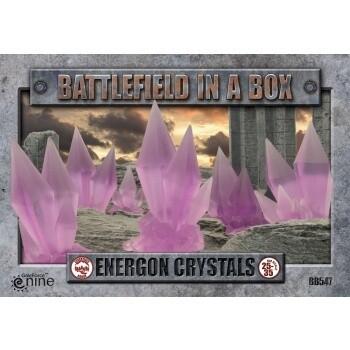 Battlefield In A Box - Energon Crystals - Purple - (x6) - 30mm - Crumbling Remnants (x2) - 30mm