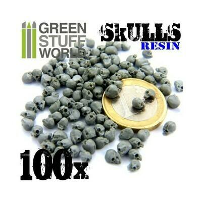 100x Totenschädel - Totenköpfe Skulls - Greenstuff World