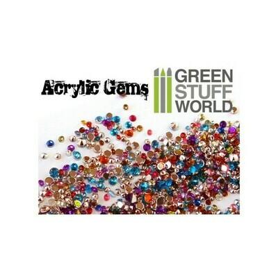 Micro Acryl-Edelsteine - 1mm zu 2,5 mm - Acrylic Gems - Greenstuff World