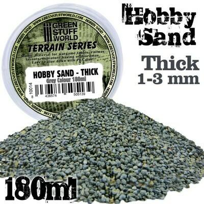 Hobby Sand Grober Thick Modellbau-Sand 180ml - Grau - Greenstuff World