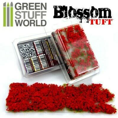 Blumenbüscheln - Selbstklebend - 6mm - ROTE Blumen Blossom Tuft - Grau - Greenstuff World