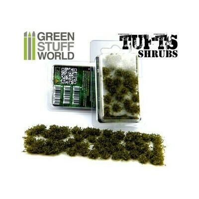 Unkrautbuschel Shrubs Shrub Tufts - Selbstklebend - 6mm - DunkelGrün Dark Green - Greenstuff World