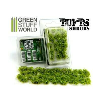 Unkrautbuschel Shrubs - Selbstklebend - 6mm - HellGrün Shrub Tuft Light Green - Greenstuff World