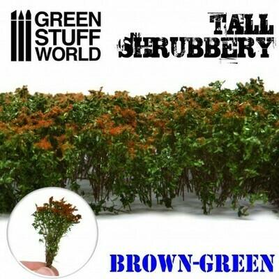 Hohes Gebüsch Tall Shrubbery - Braun Grün - Greenstuff World