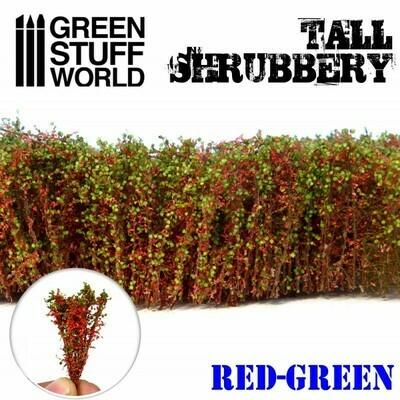 Hohes Gebüsch Tall Shrubbery - Rot Grün - Greenstuff World