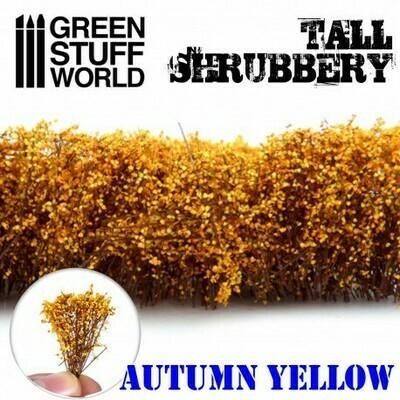 Hohes Gebüsch - Herbstliches Gelb Tall Shrubbery - Greenstuff World