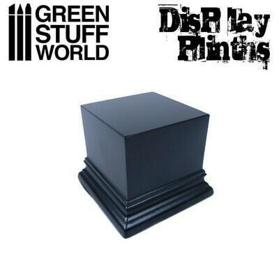 Quadratischer Ausstellungssockel 6x6 cm Display Plinth - Schwarz - Greenstuff World