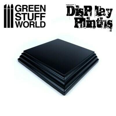 Quadratischer Ausstellungssockel 8x8 cm Display Plinth - Schwarz - Greenstuff World