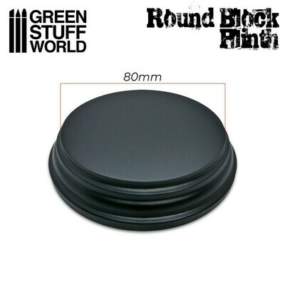 Runder Ausstellungssockel 8cm Display Plinth - Schwarz - Greenstuff World