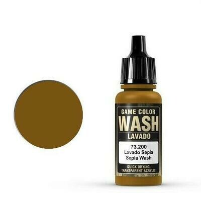Game Color Wash Sepia Shade 17ml - Vallejo - Farben