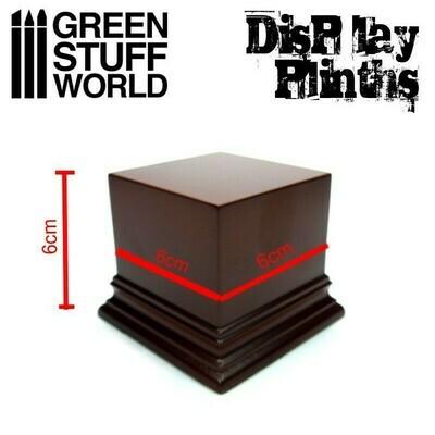 Quadratischer Ausstellungssockel 6x6 cm - Haselnussbraun Display Plinth - Greenstuff World