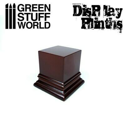 Quadratischer Ausstellungssockel 4x4 cm - Haselnussbraun Display Plinth - Greenstuff World