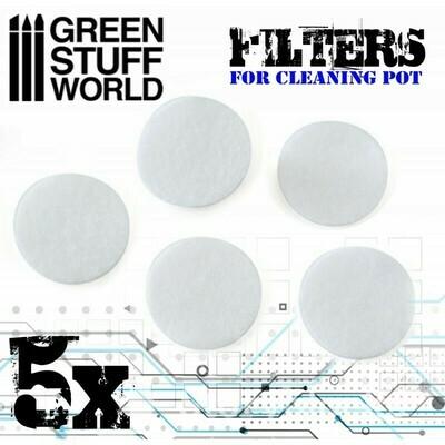 Airbrush Cleaning Pot Filters Filter für Airbrush Reinigungsstation - Greenstuff World