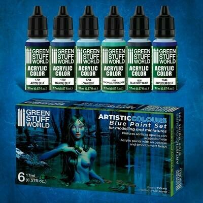 Farbset - Blau - Blue Paint Set - Greenstuff World