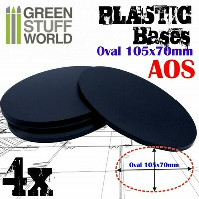 105x70mm AOS Oval Kunststoffbasen (4x) - Greenstuffworld