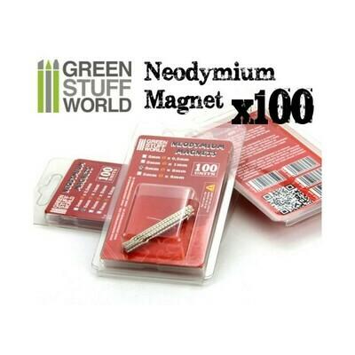 Neodym-Magnete 3x2mm - 100 stück (N35) - Greenstuff World
