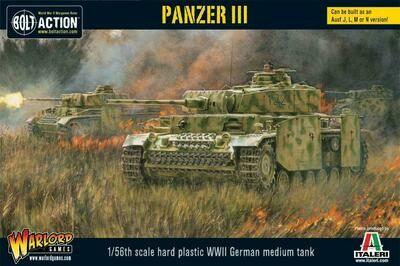 Panzer III (plastic) German - Bolt Action